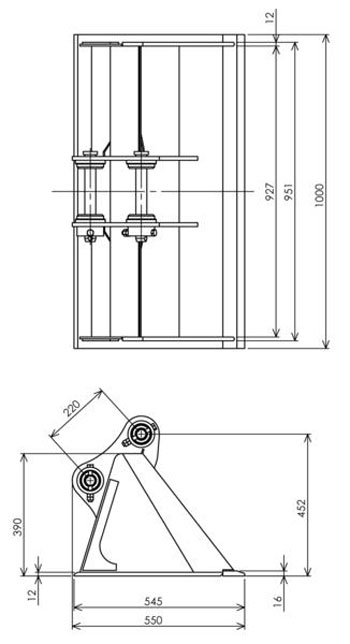 Excavator Cleaning Bucket Attachment
